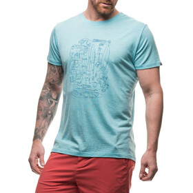 Houdini Activist Message Tee Men Aquatic Blue